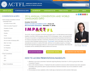 ACTFL 2016 in Boston @ Boston | Massachusetts | United States
