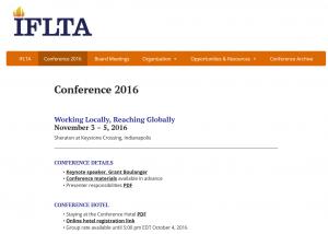 IFLTA 2016 in Indianapolis @ Indianapolis | Indiana | United States