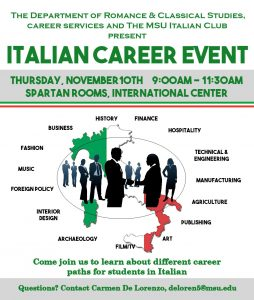 Italian Career Event @ Spartan Rooms, International Center  | East Lansing | Michigan | United States