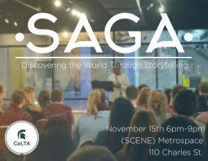 SAGA Storytelling Event @ SCENE Metrospace | East Lansing | Michigan | United States
