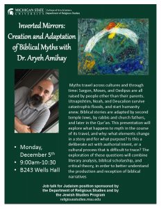 Inverted Mirrors:  Creation and Adaptation of Biblical Myths @ B243 Wells Hall