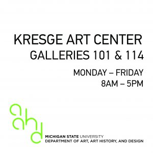 BFA Graphic Design Exhibition @ Gallery 101 & 114, Kresge Art Center | East Lansing | Michigan | United States