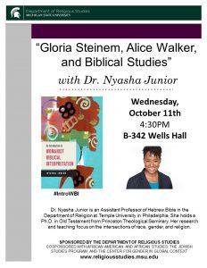 """Gloria Steinem, Alice Walker, and Biblical Studies"""