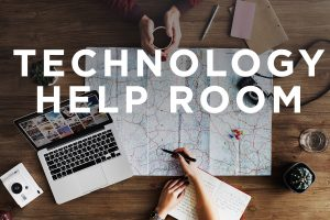Language Course Technology Help Room @ B129 Wells Hall and via Zoom (see below)