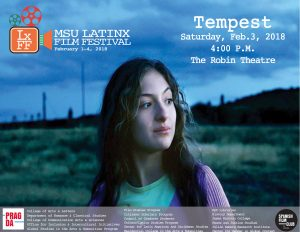 Tempest - MSU Latinx Film Festival @ The Robin Theatre, REO Town | Lansing | Michigan | United States