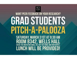 Grad Students Pitch-A-Palooza @ Wells Hall, Room B-342 | East Lansing | Michigan | United States