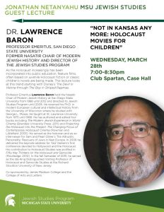 """Not in Kansas Any More: Holocaust Movies for Children"" @ Club Spartan, Case Hall  