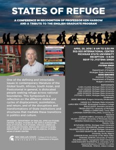 States of Refuge: A Conference in Recognition of Professor Ken Harrow & a Tribute to the English Graduate Program @ International Center, Rooms 302-303 | East Lansing | Michigan | United States