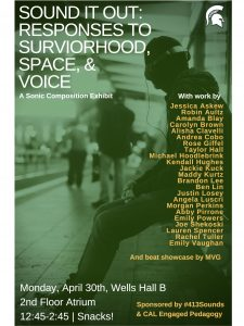 Sound It Out: Responses to Survivorhood, Space, & Voice @ Wells Hall, 2nd Floor Atrium | East Lansing | Michigan | United States