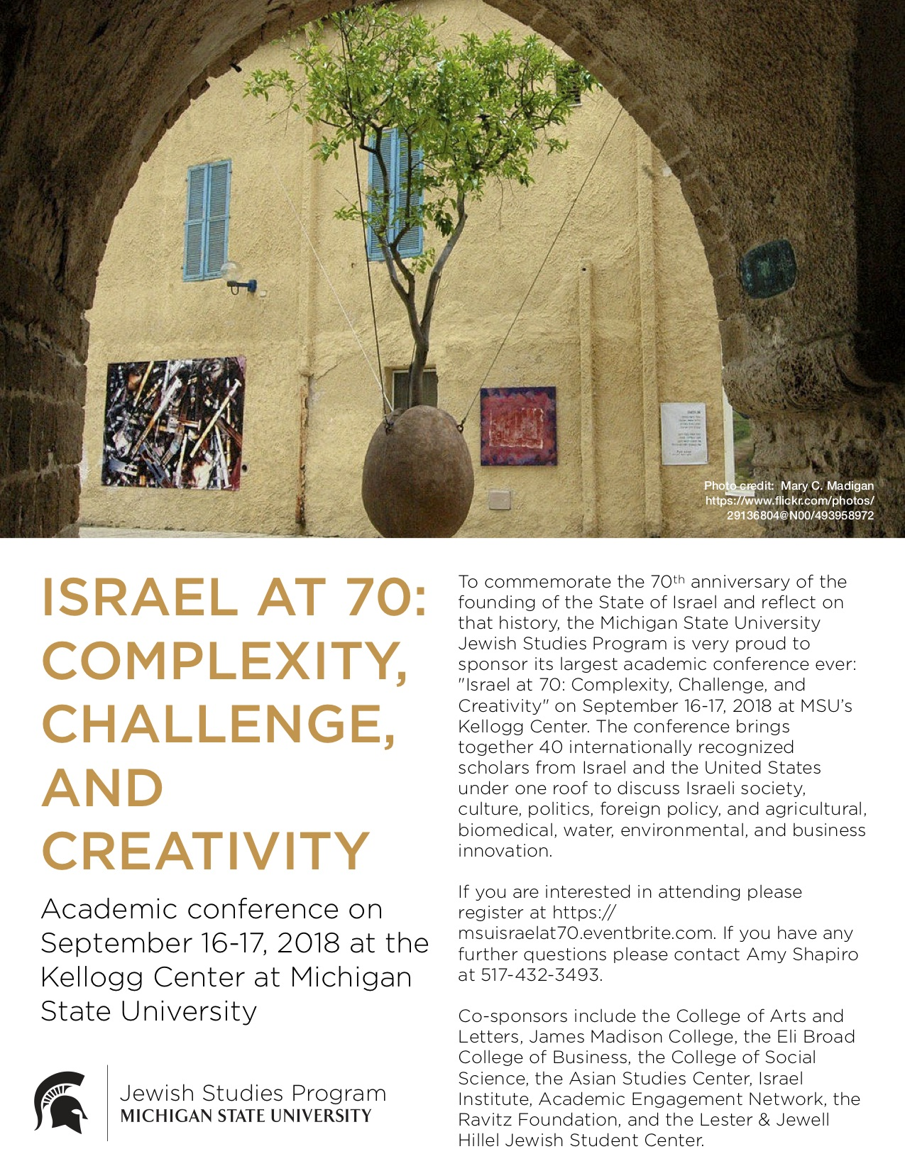 Israel at 70 Conference @ Kellogg Center | East Lansing | Michigan | United States