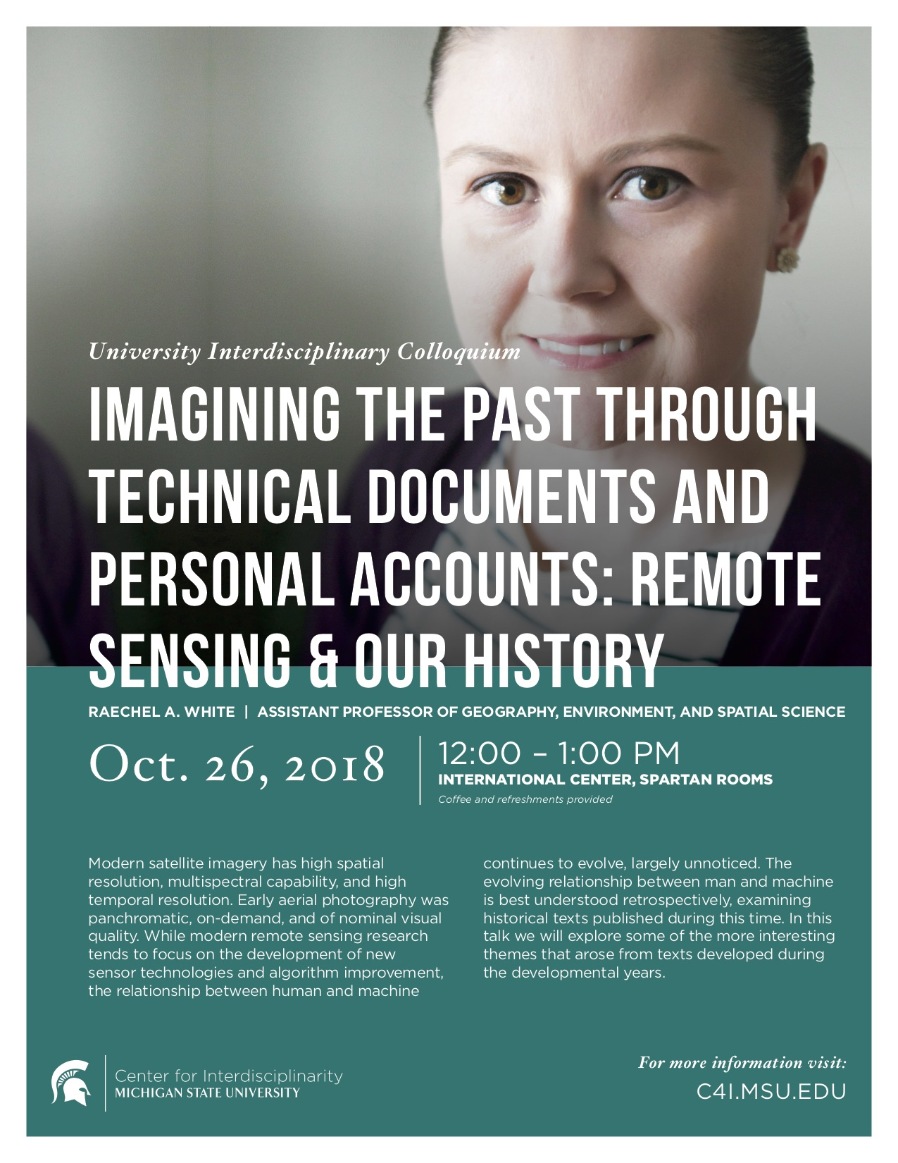 Imagining the Past Through Technical Documents and Personal Accounts: Remote Sensing & Our History @ International Center, Spartan Rooms | East Lansing | Michigan | United States