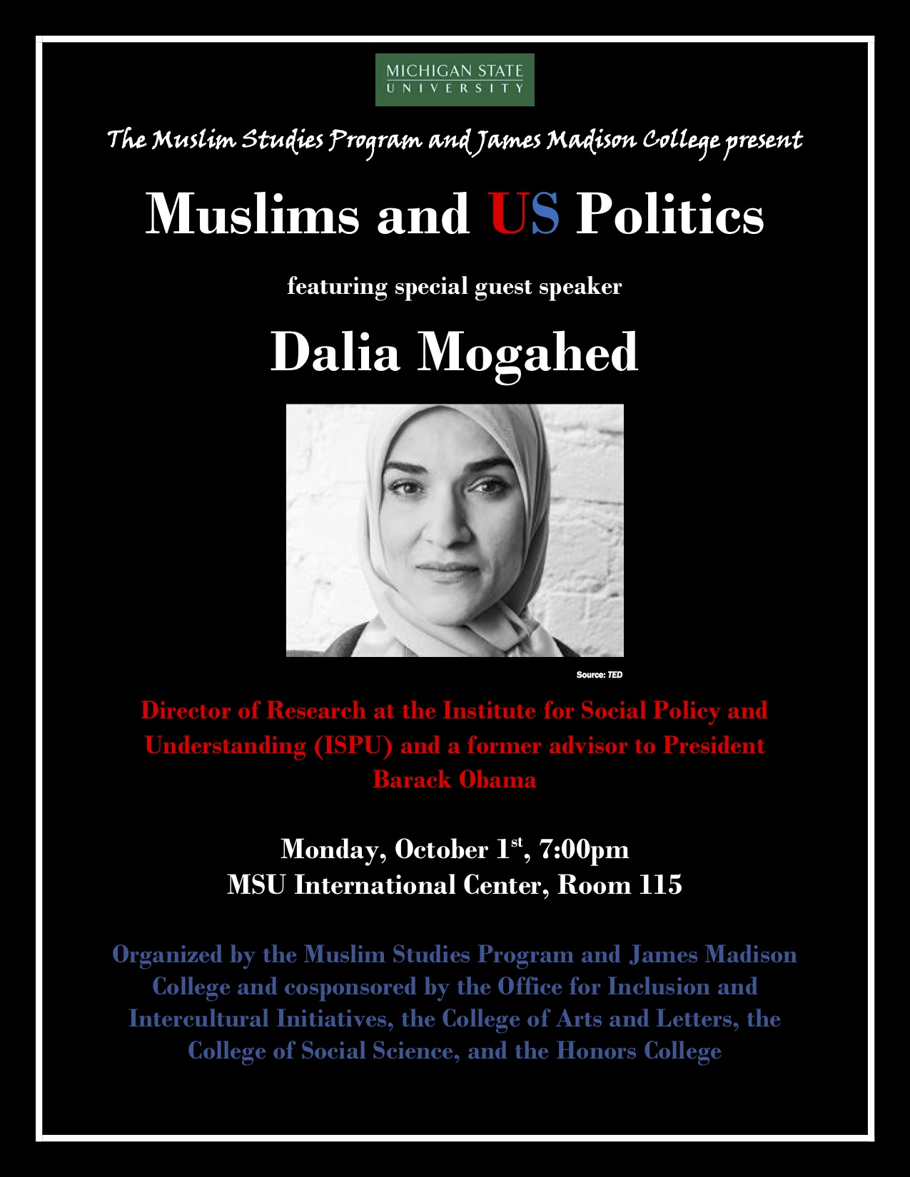 Muslims and US Politics @ MSU International Center, Room 115 | East Lansing | Michigan | United States