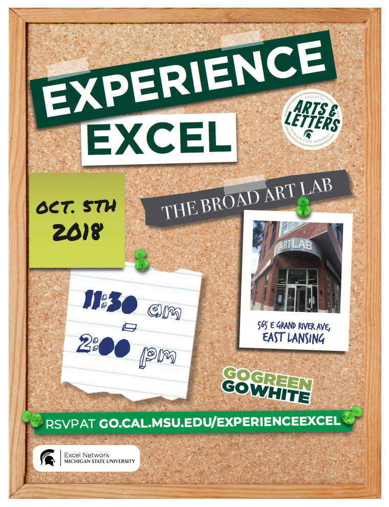 Experience Excel | CAL Excel Network @ Broad Art Lab | East Lansing | Michigan | United States