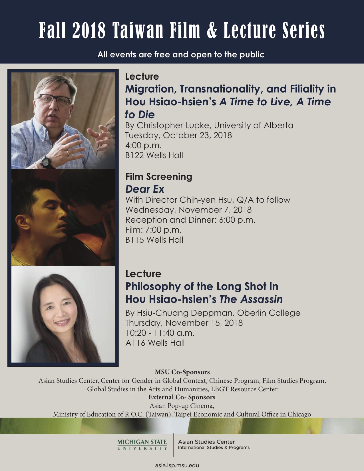 Migration, Transnationality, and Filiality in Hou Hsiao-hsien's A Time to Live, A Time to Die - Taiwan Film & Lecture Series @ B122 Wells Hall