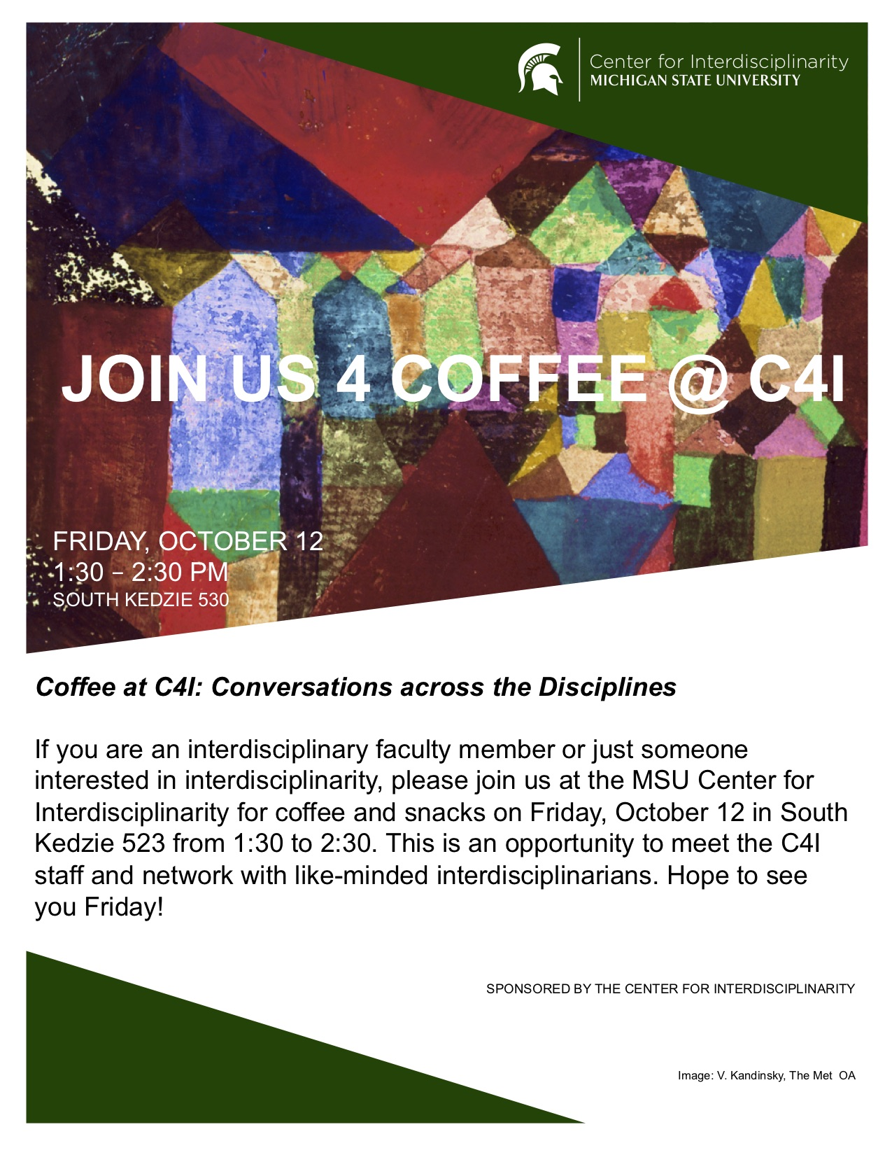 Coffee at C4I @ South Kedzie room 523 | East Lansing | Michigan | United States