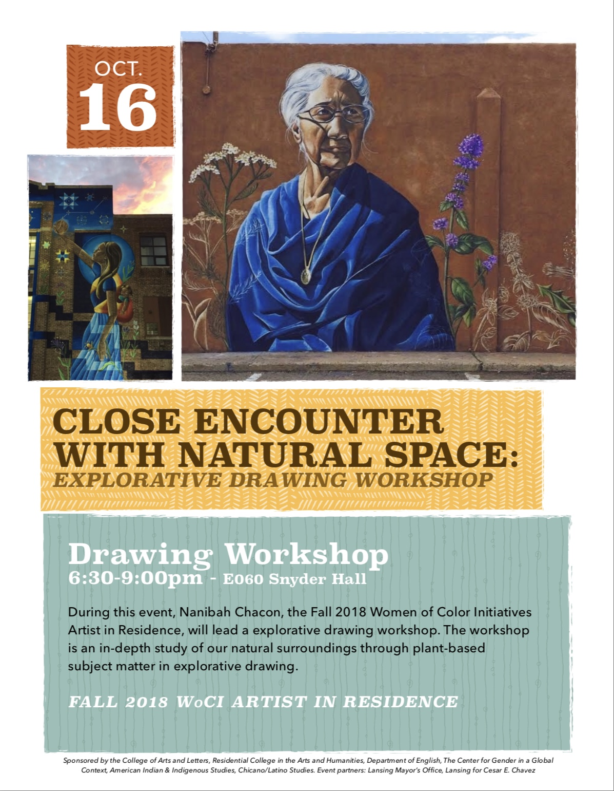 Close Encounter With Natural Space: Explorative Drawing Workshop with Nanibah Chacon @ Snyder Hall, Room E060 | East Lansing | Michigan | United States