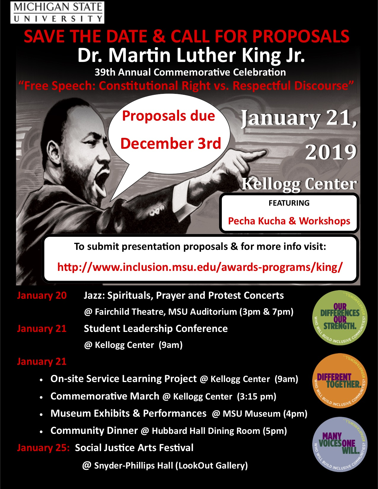 39th Annual Commemorative Celebration of Dr. Martin Luther King Jr. @ Fairchild Theatre | East Lansing | Michigan | United States