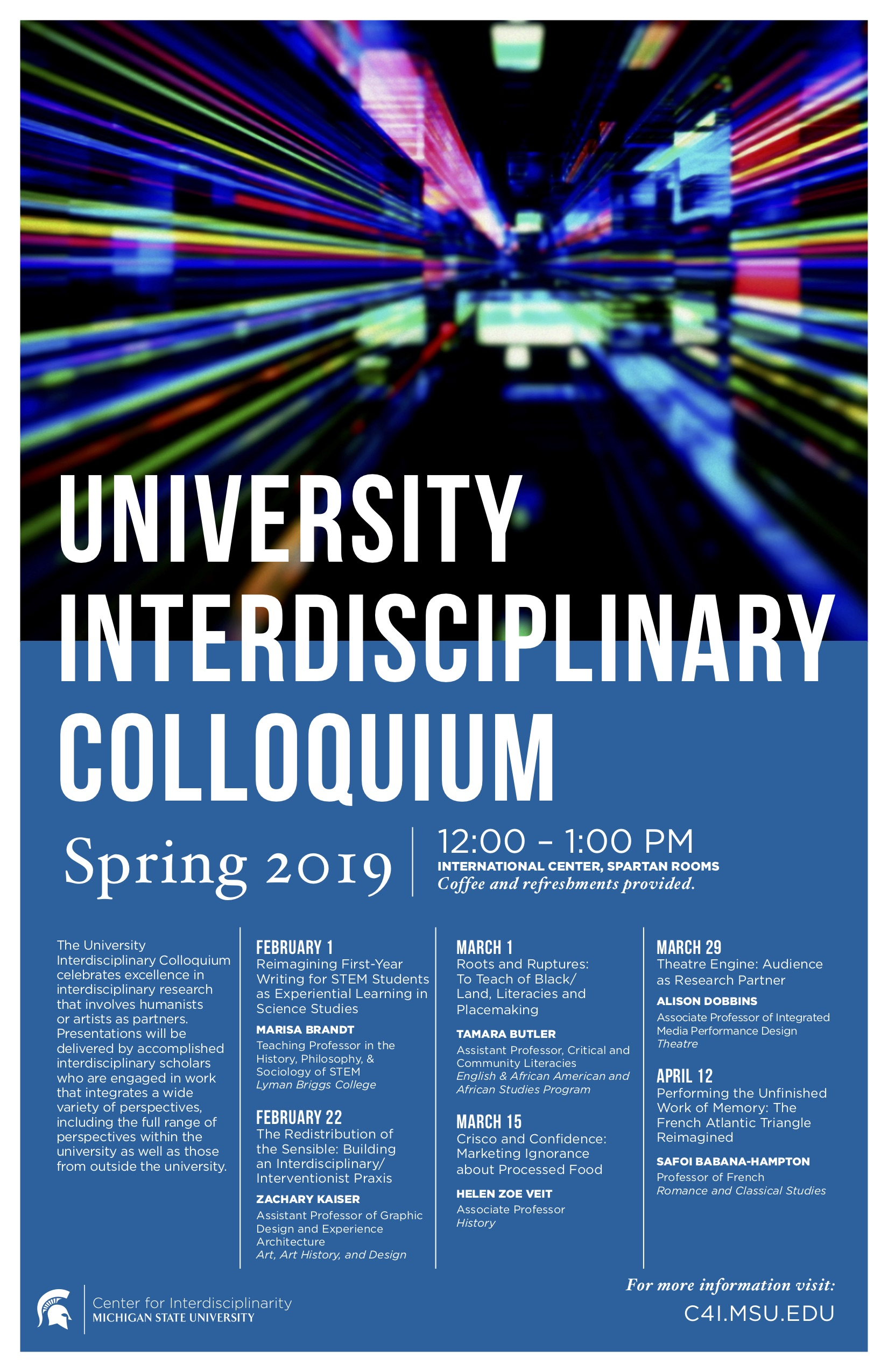 Interdisciplinary Colloquium: Tamara Butler @ International Center | East Lansing | Michigan | United States