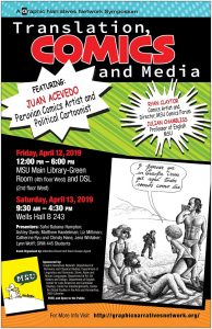 Translation, Comics and Media. A Graphic Narratives Symposium. @ Green Room(4th West) and DSL(2nd West) | East Lansing | Michigan | United States