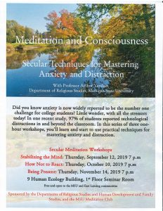 Meditation and Consciousness: Stabilizing the Mind @ Human Ecology Building, Room 9