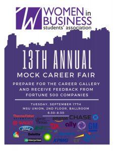 Mock Career Fair @ MSU Union, 2nd floor, Ballroom