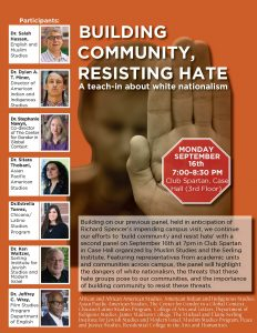 Building Community, Resisting Hate | A teach-in about white nationalism @ Club Spartan, Case Hall (3rd Floor) | East Lansing | Michigan | United States