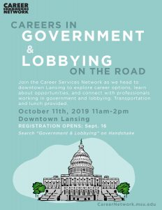 On the Road: Careers in Government & Lobbying @ Downtown Lansing