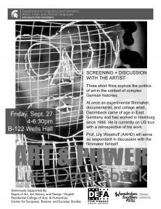 Art & Power: Film Screening and Discussion with Lutz Dammbeck @ B-122 Wells Hall | East Lansing | Michigan | United States