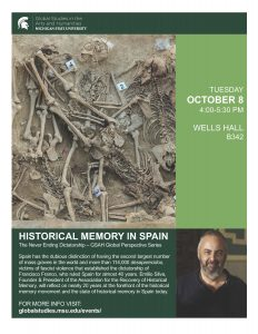 Historical Memory in Spain @ B342 Wells Hall | East Lansing | Michigan | United States