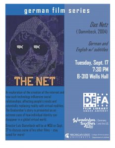 Film Screening: The Net @ B-310 Wells Hall | East Lansing | Michigan | United States