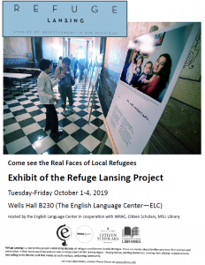 Exhibit of the Refuge Lansing Project @ B230 Wells Hall | East Lansing | Michigan | United States