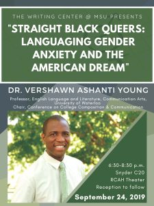 Language Diversity Speaker Series: Dr. Vershawn Ashanti Young @ Synder Hall, RCAH Theatre, Synder C20 | East Lansing | Michigan | United States