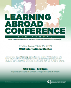 Learning Abroad Conference @ MSU International Center