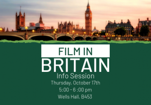 Film in Britain Info Session @ Wells Hall, Room B453