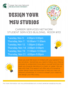Design Your MSU Studios @ Student Services Building, Room #113