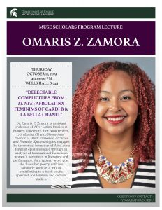 MUSE Lecture: Omaris Z. Zamora @ Wells Hall B243 | East Lansing | Michigan | United States