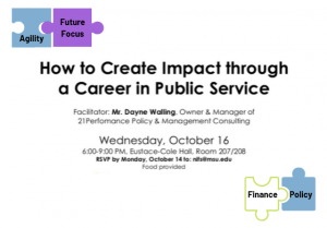 How to Create Impact through a Career in Public Service Workshop @ Eustace-Cole Hall, Room 207/208