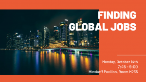Finding Global Jobs - Special focus: India, Japan, Malaysia and Korea @ Minskoff Pavilion, Room M235 | East Lansing | Michigan | United States