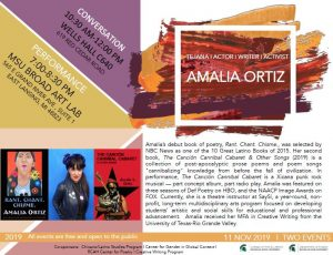 Guest Speaker Amalia Ortiz @ Wells Hall C640 | East Lansing | Michigan | United States