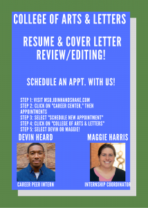 Resume & Cover Letter Review/Editing @ 200 Linton Hall