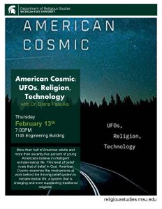 American Cosmic:  UFOs, Religion, Technology @ 1145 Engineering Builidng