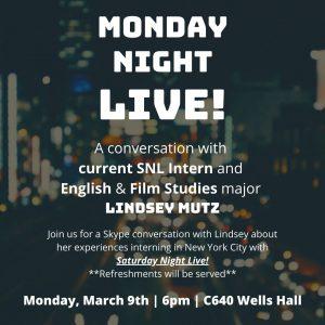 Monday Night Live! @ C640 Wells Hall