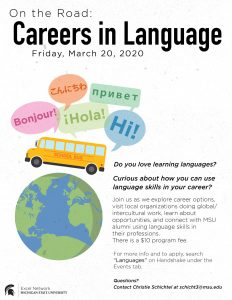 On the Road: Careers in Language @ East Lansing, Michigan