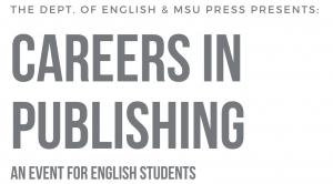 Careers in Publishing @ Erickson Hall, Room 228