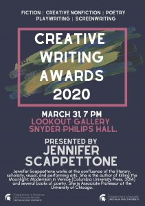 Creative Writing Awards 2020 @ Snyder-Phillips Hall LookOut Gallery | East Lansing | Michigan | United States