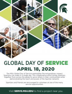 poster of the Global Day of Service 2020
