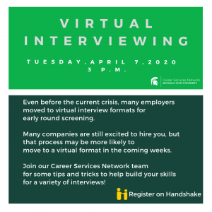 Virtual Interviewing (Webinar)