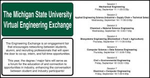 MSU Virtual Engineering Exchange Session 5: Computer Science + Data Science Engineering @ HANDSHAKE VIRTUAL FAIR portal
