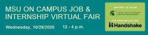 MSU On Campus Job and Internship Virtual Fair 2020 @ Virtual
