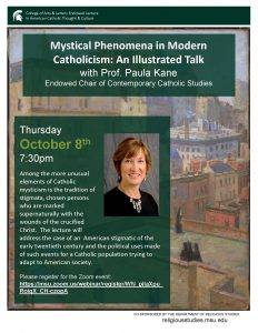Mystical Phenomena in Modern Catholicism: An Illustrated Talk